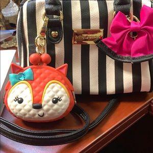 Betsey Johnson cross body small purse/Change purse